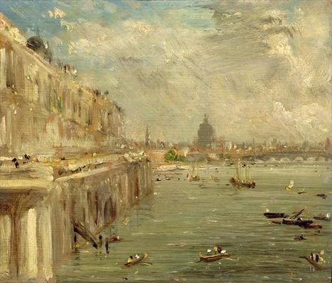 Somerset House Terrace from Waterloo Bridge, c.1819