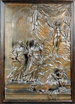 The Stowe Reliefs: possibly Truth Revealing Herself to the Liberal Arts, c.1715
