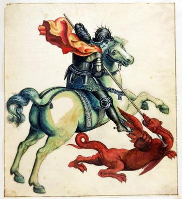 St. George and the Dragon, from 'Anecdotes of Painting in England' written by Horace Walpole