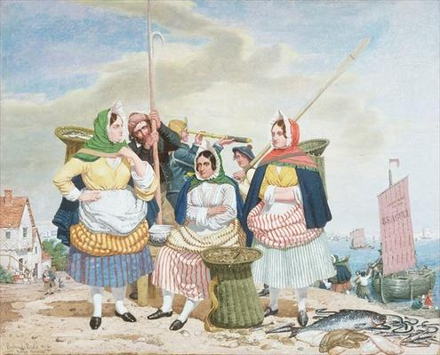 Fish Market by the Sea, c.1860