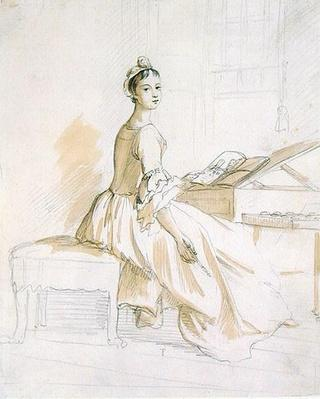 Portrait of a Lady at a Drawing Table