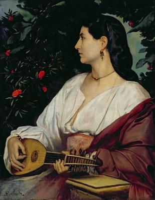 The Mandolin Player, 1865