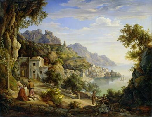 At the Gulf of Salerno, 1826