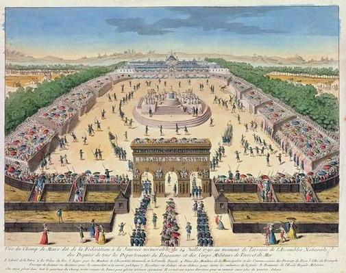 View of the Champs de Mars, 14th July 1790