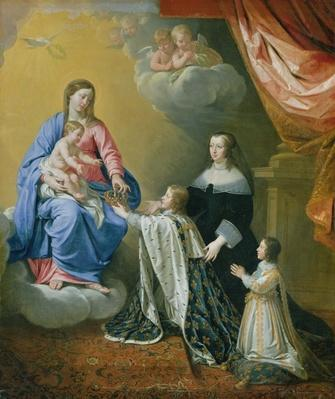 The Virgin Mary gives the Crown and Sceptre to Louis XIV, 1643