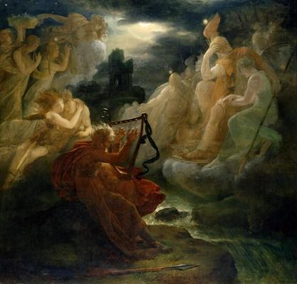 On the Bank of the Lora, Ossian Conjures up a Spirit with the Sound of his Harp, c.1811