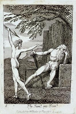 My Son! My Son!, plate 10 from 'For Children. The Gates of Paradise', 1793