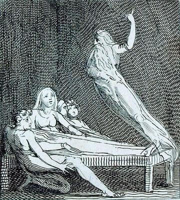 Fear and Hope are...Vision, plate 14 from ' For Children. The Gates of Paradise', 1793