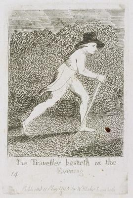 The Traveller Hasteth in the Evening, plate 15 from 'For Children. The Gates of Paradise', 1793