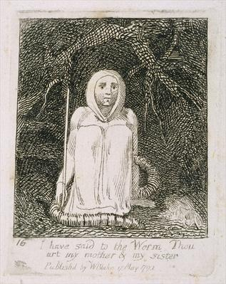 I Have Said to the Worm Thou Art My Mother and My Sister, plate 17 from 'For Children. The Gates of Paradise', 1793
