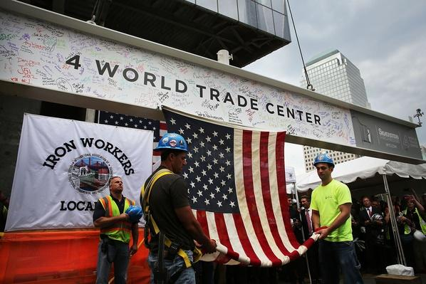Topping Off Ceremony For Four World Trade Center | 9/11: We Will Never Forget