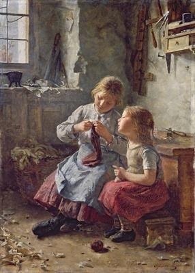Knitting, 1891