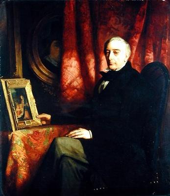 Portrait of the art collector Nicolaus Hudtwalcker, 1852