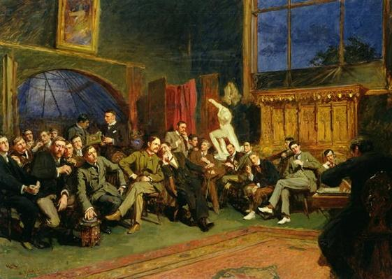 Evening in the Studio with my Students, 1886