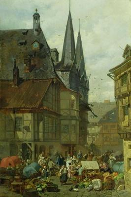 The Marketplace in Wernigerode, 1861