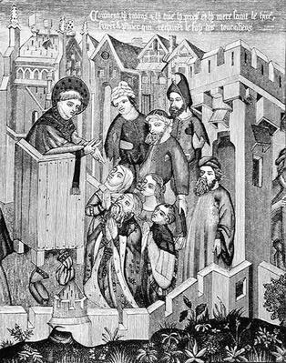 Preaching of the First Missionary Apostles, illustration from 'Science and Literature in the Middle Ages and the Renaissance', written and engraved by Paul Lacroix, 1878
