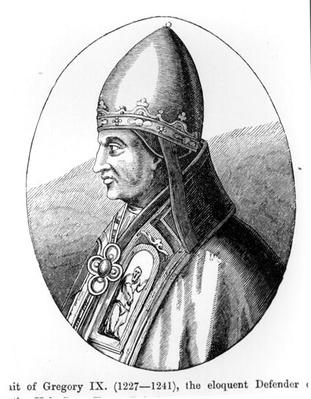 Portrait of Pope Gregory IX