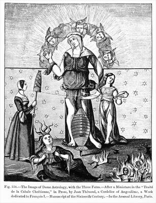 The Image of Dame Astrology with the Three Fates
