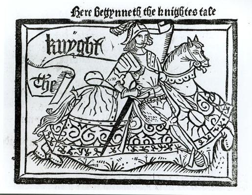 'Here Begynneth the Knightes Tale', illustration from 'The Canterbury Tales' by Geoffrey Chaucer