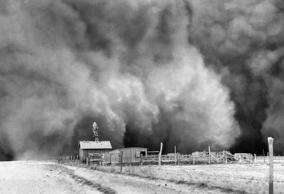Dust Storm Approaching a Farm | Ken Burns: The Dust Bowl