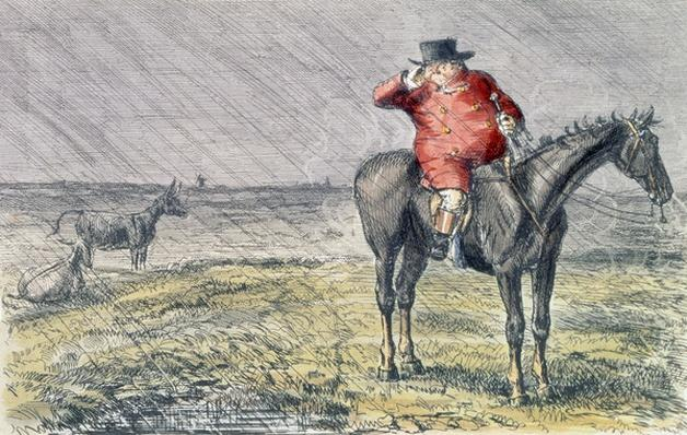 'Mr. Jorrocks Has a Bye Day', illustration from 'Handley Cross' by Robert Smith Surtees
