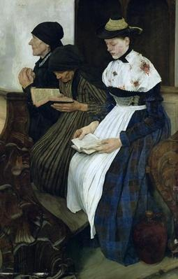 Three Women in Church, 1882