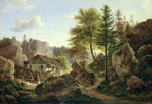 A Watermill in the Vosges near Ribanville, 1836