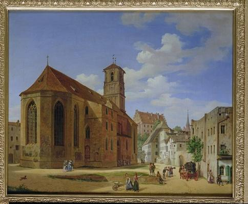 The Church Square in Wasserburg am Inn, 1838