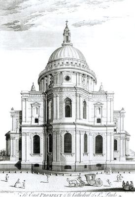 The East Prospect of St. Paul's Cathedral, engraved by R. Parr