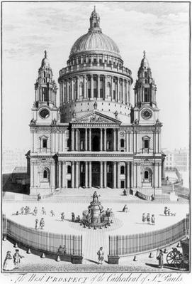 The West Prospect of St. Paul's Cathedral, engraved by R. Parr