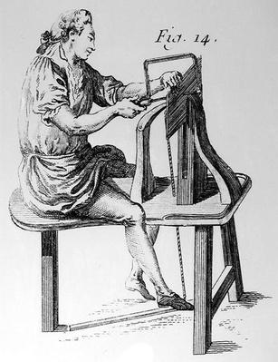 Woodworker, from 'L'Art du Menuisier' by Andre Jacob Roubo, pub. 1769-74