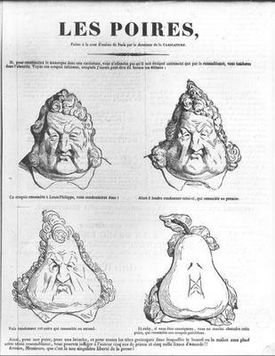 Les Poires, caricature of King Louis-Philippe