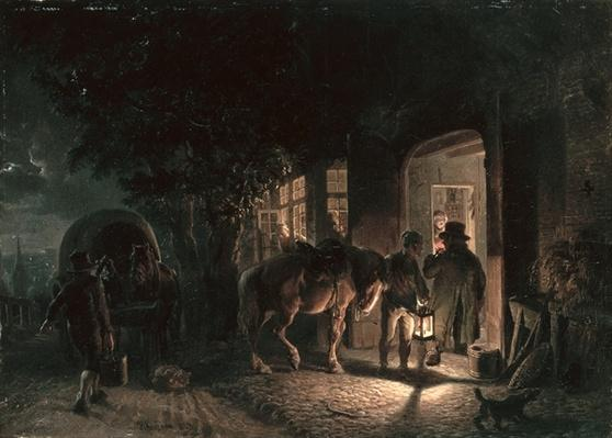 In front of the Pub, 1843