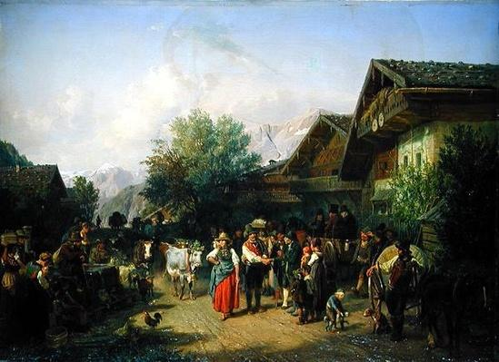 Homecoming from the Alpine Pasture, 1848