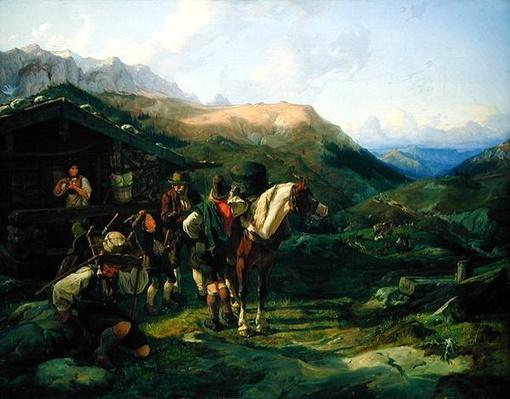 Departure from the Alpine Pasture, 1832