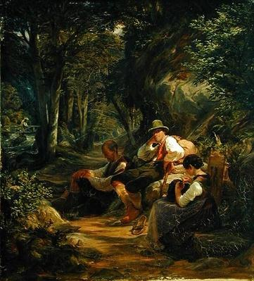 Three Upper Bavarians Resting on an Alpine Path, 1841
