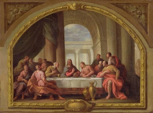 Sketch for 'The Last Supper', St. Mary's, Weymouth, formerly attributed to Antonio Verrio