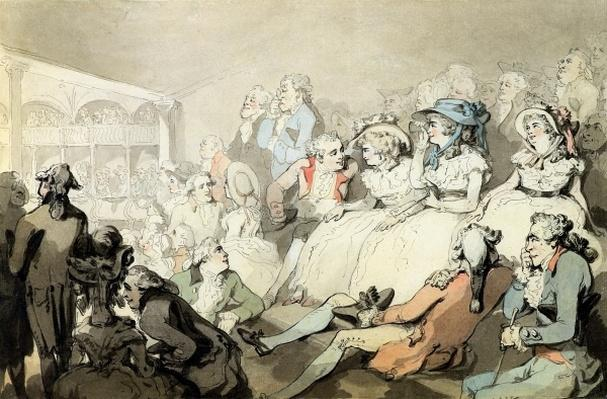 An Audience Watching a Play, c.1785