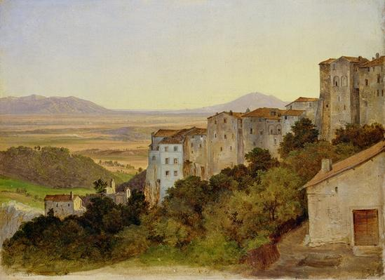 View of Olevano, 1821-24