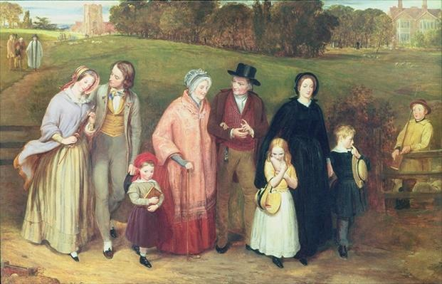 Sunday Morning - The Walk from Church, 1846