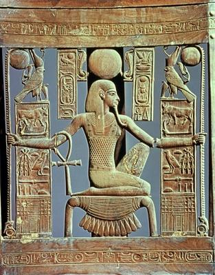 Back of a chair from the tomb of Tutankhamun