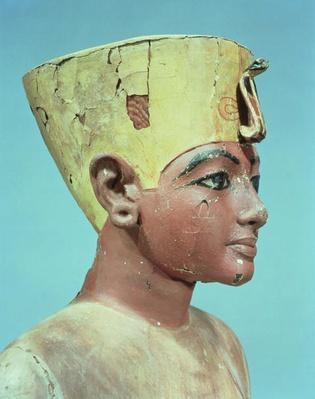 Head of a 'dummy' of the young Tutankhamun