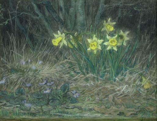 Narcissi and Violets, c.1867