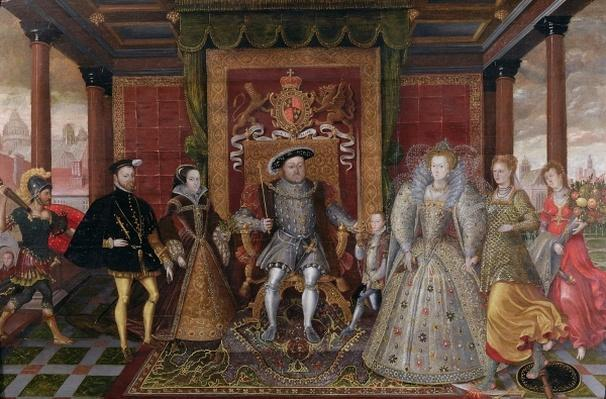 An Allegory of the Tudor Succession: The Family of Henry VIII, c.1589-95