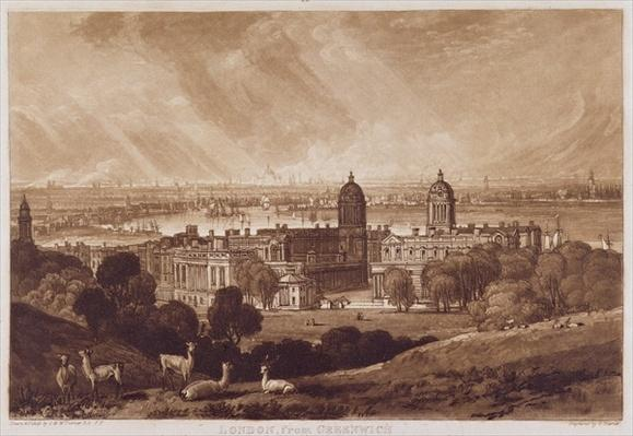 London from Greenwich, engraved by Charles Turner