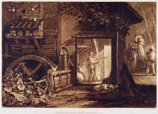Pembury Mill, Kent, engraved by Charles Turner