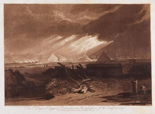 The Fifth Plaque of Egypt, engraved by Charles Turner