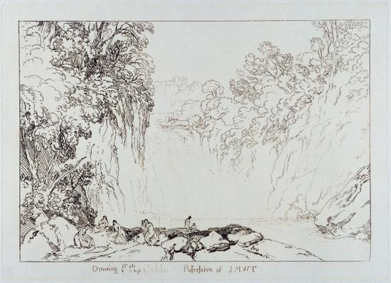 The Fall of the Clyde, engraved by Charles Turner