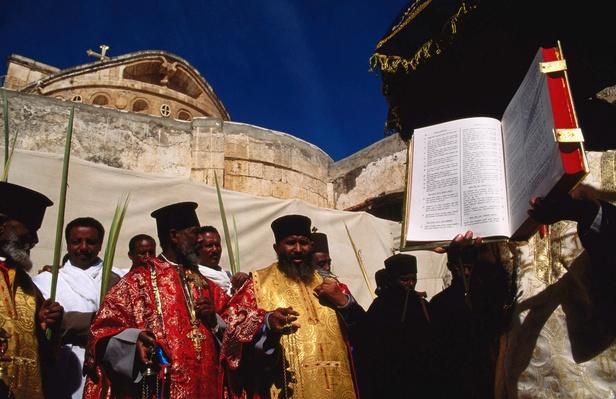 Ethiopian Orthodox Palm Sunday ceremony, Deir es-Sultan | World Religions: Christianity