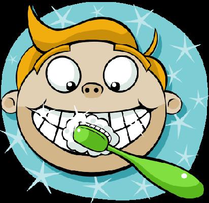 Cartoon Boy Brushing Teeth | Health and Nutrition